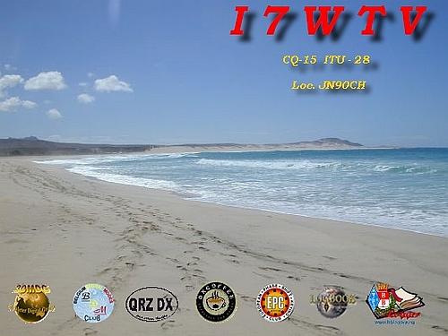 QSL image for I7WTV