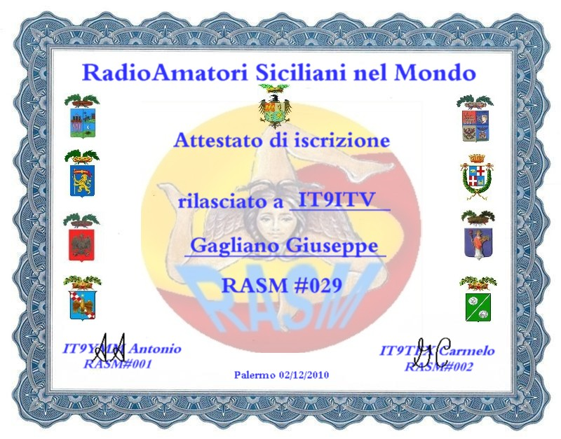 QSL image for IT9ITV