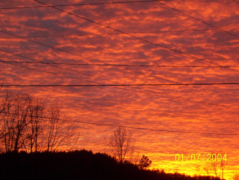 WESTERN NORTH CAROLINA SUNSET.OR ARMAGEDDON? 2007