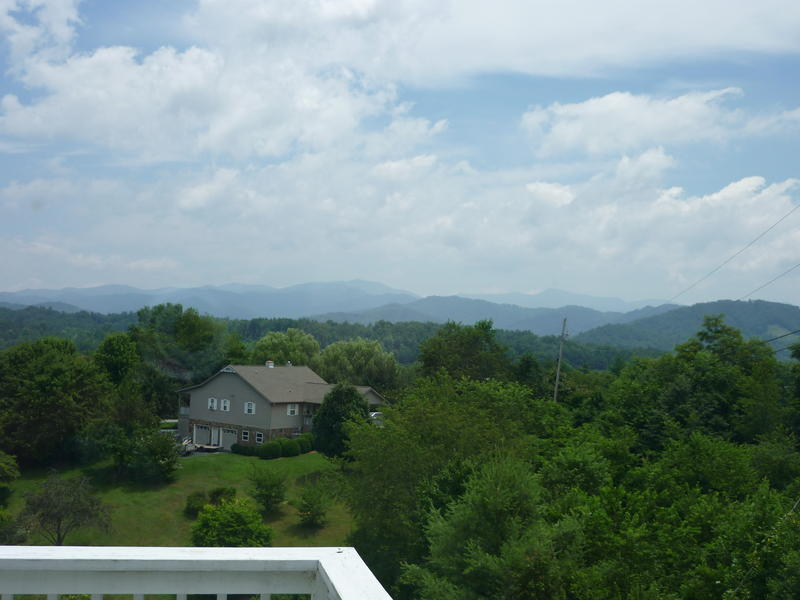 Morning mountain view off the deck at Jerry's house in Mars Hill, NC