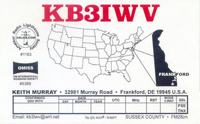 QSL image for KB3IWV