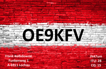 QSL image for OE9KFV