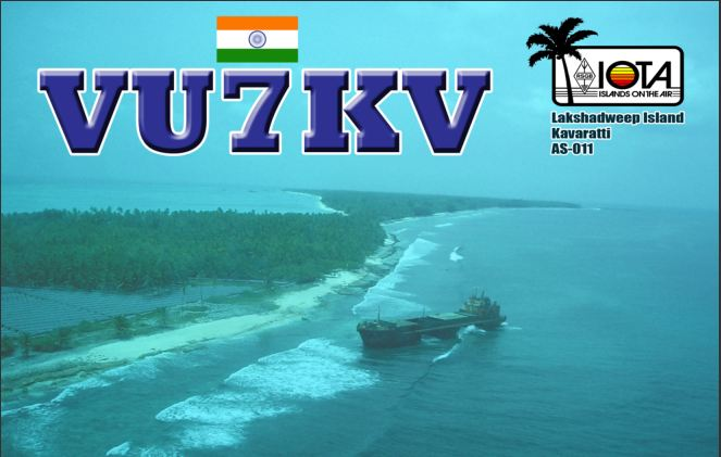 QSL image for VU7KV