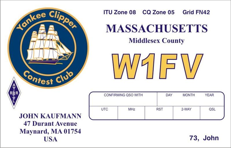 QSL image for W1FV