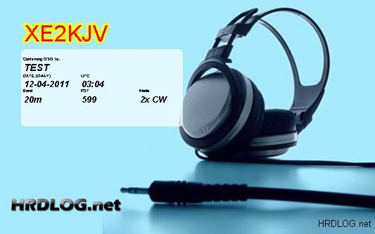 QSL image for XE2KJV