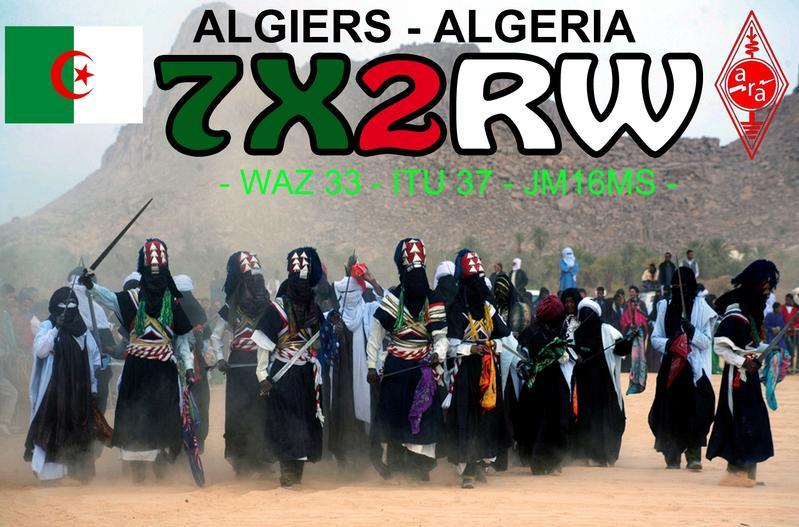 QSL image for 7X2RW
