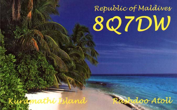QSL image for 8Q7DW