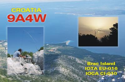 QSL image for 9A4W