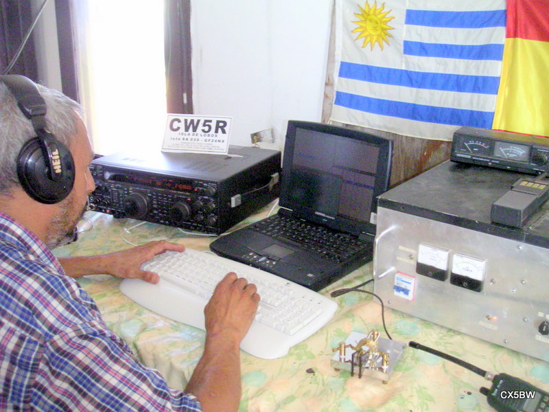 WORKING IN THE LOBOS ISL. DXPEDITION