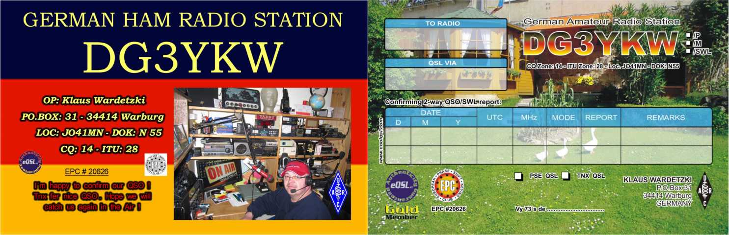 QSL image for DG3YKW