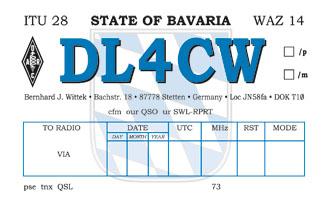 Bavarian style QSL