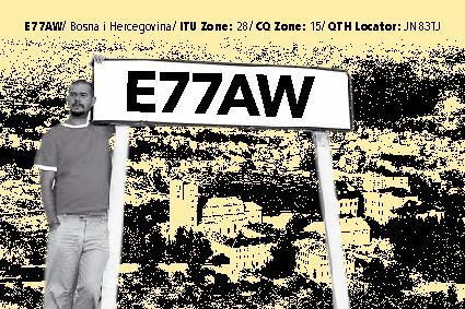 QSL image for E77AW