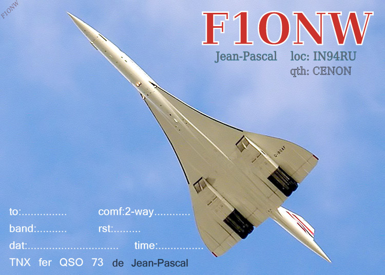 QSL image for F1ONW