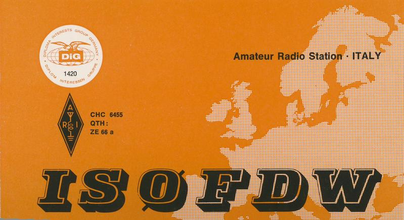 QSL image for IS0FDW