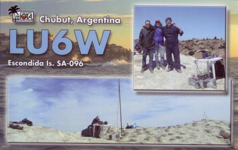 QSL image for LU6W