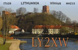 QSL image for LY2XW