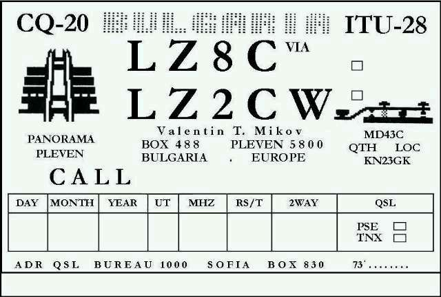 QSL image for LZ2CW