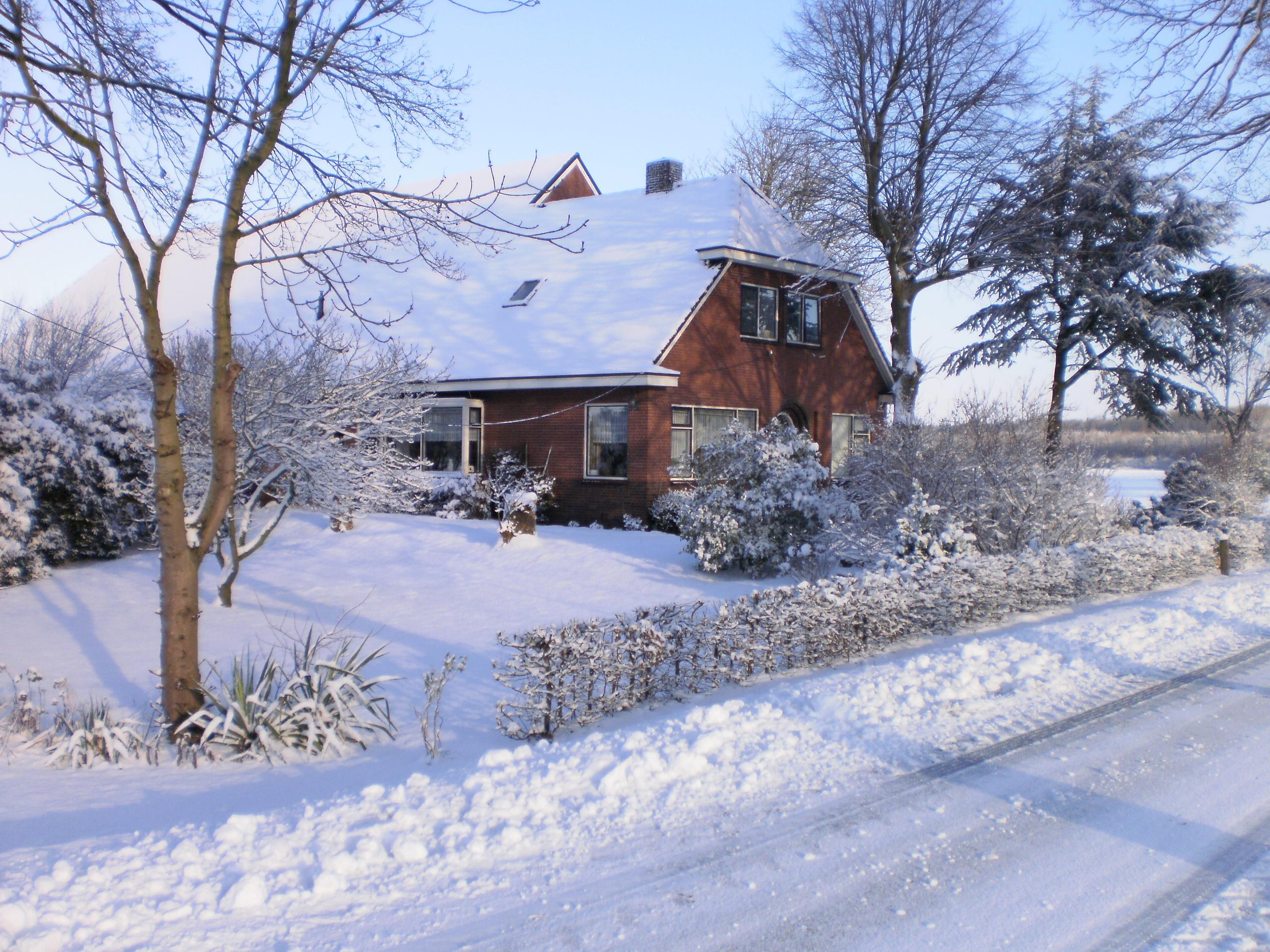 House In Westerlee in winter