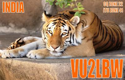 QSL image for VU2LBW