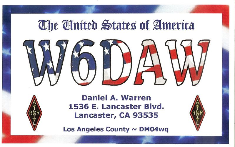 QSL image for W6DAW