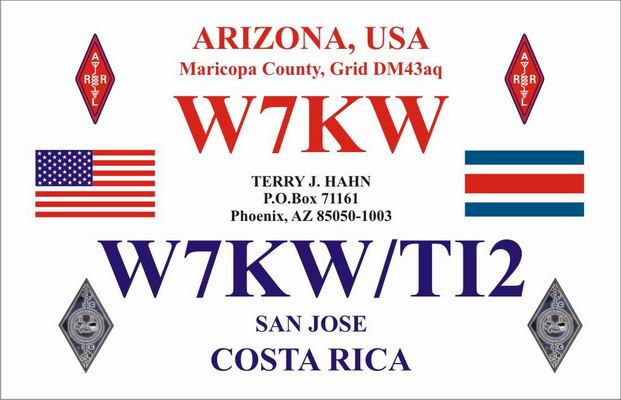 QSL image for W7KW