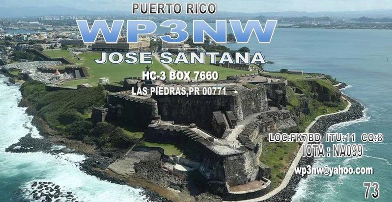 QSL image for WP3NW