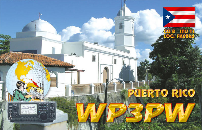 QSL image for WP3PW