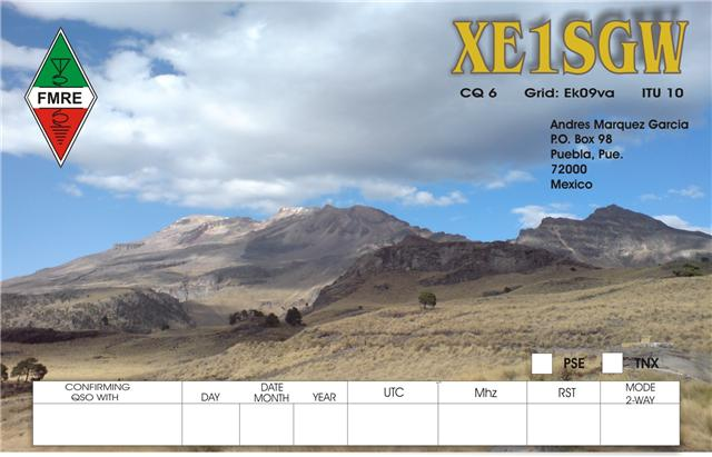 QSL image for XE1SGW