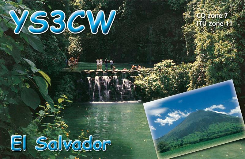 QSL image for YS3CW