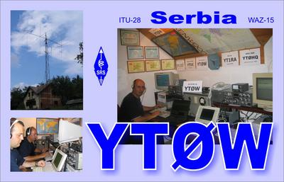 QSL image for YT0W