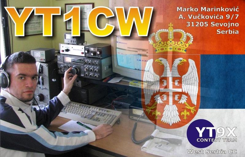 QSL image for YT1CW