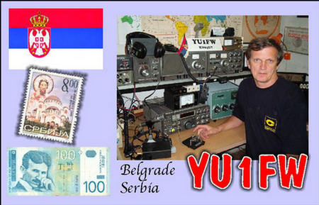 QSL image for YU1FW
