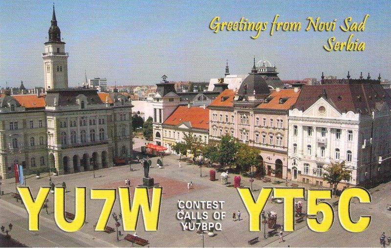 QSL image for YU7W
