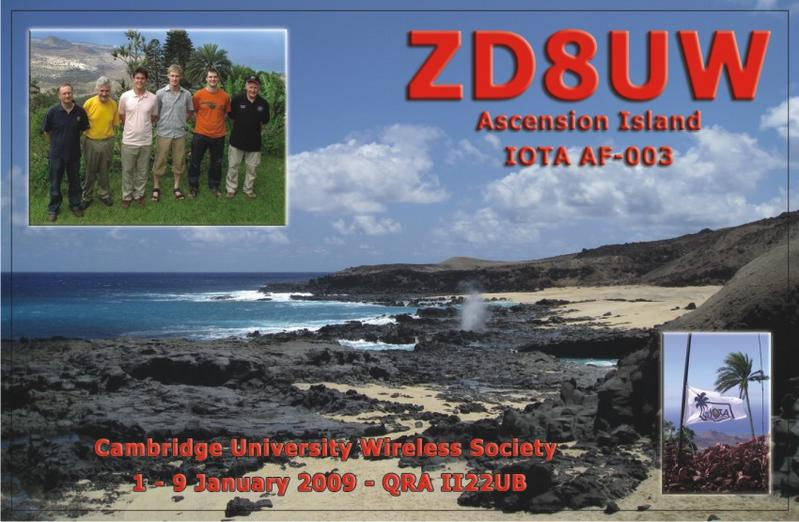 QSL image for ZD8UW