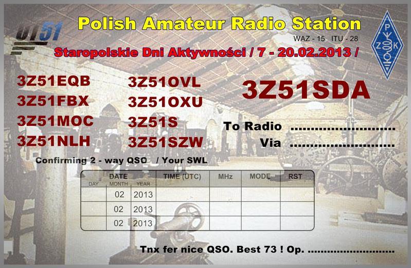 QSL image for 3Z51FBX