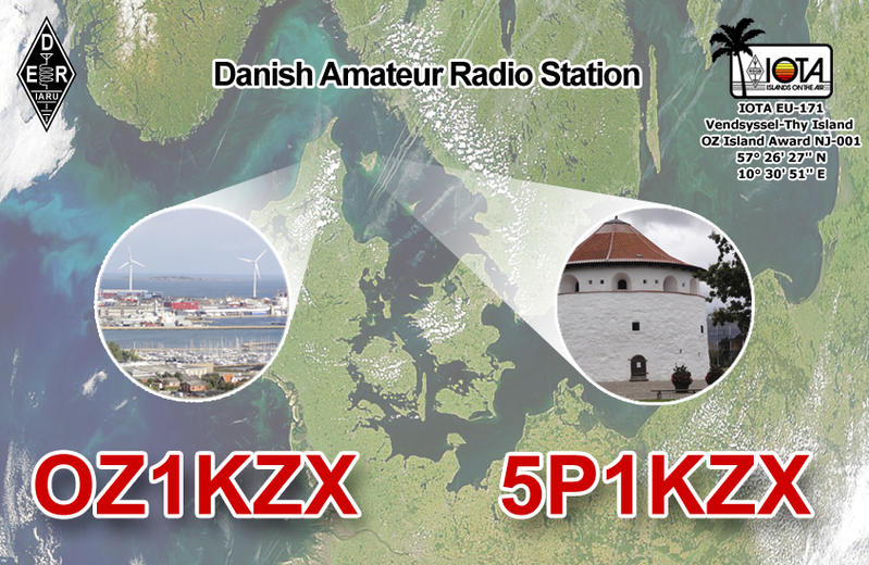 QSL image for 5P1KZX