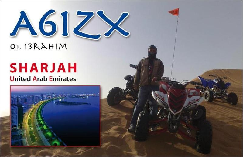 QSL image for A61ZX