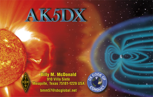 QSL image for AK5DX