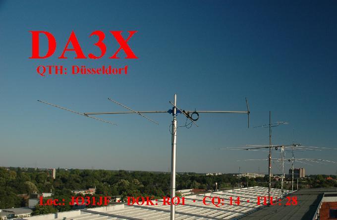 QSL image for DA3X