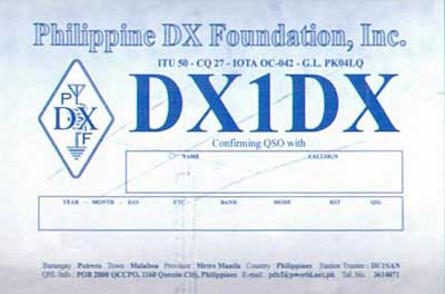 QSL image for DX1DX