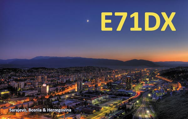 QSL image for E71DX