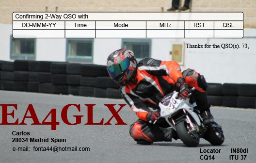 QSL image for EA4GLX