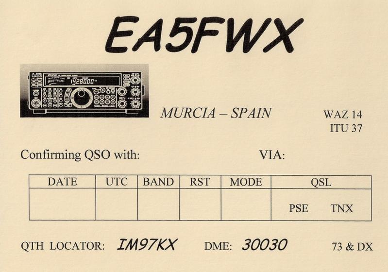 SI necesitas mi QSl imprimela / If you need my Qsl Card print it