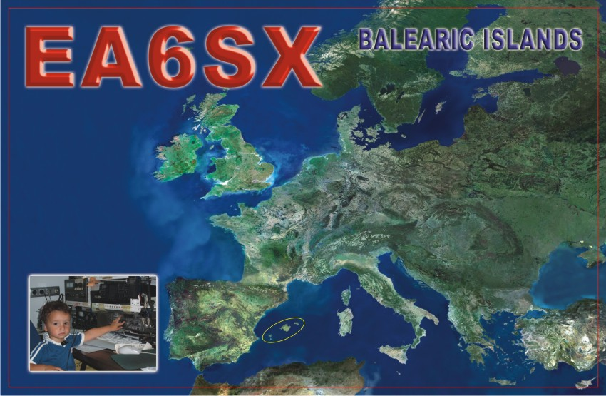 QSL image for EA6SX