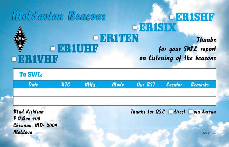QSL image for ER1SIX