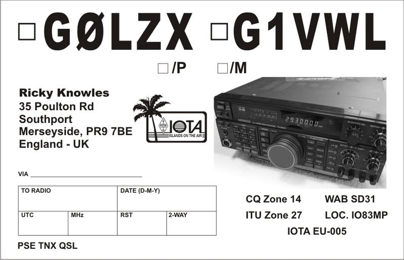 QSL image for G0LZX