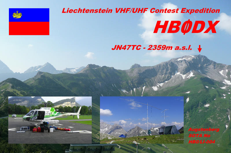 QSL image for HB0DX