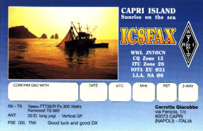 QSL image for IC8FAX