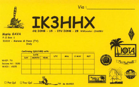 QSL image for IK3HHX