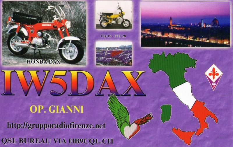 QSL image for IW5DAX